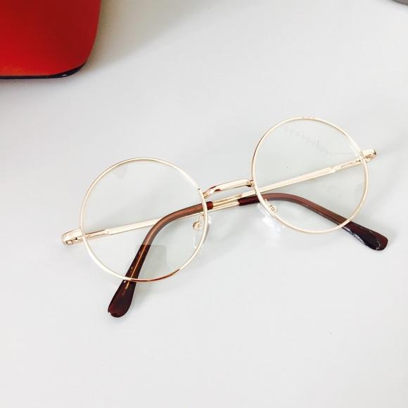 69b1de54a Accessories | Round Retro Clear Lens Gold Glasses | Poshmark